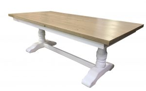 double pedestal trestle table