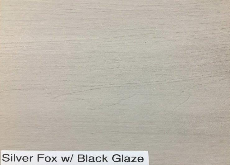 Silver Fox with Black Glaze